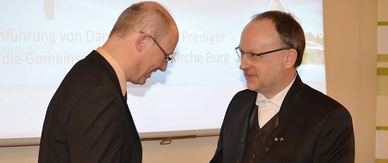 Einführung Prediger Benne mit Pastor Dr. Lars Emersleben